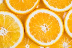 Sliced orange background. Food and drink.  Royalty Free Stock Image