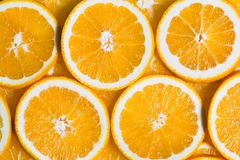 Sliced orange background. Food and drink.  Stock Photography