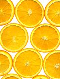 Sliced orange background, high resolution Stock Images