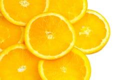 The sliced orange background Stock Photo
