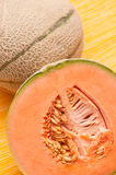 Sliced orange charentais melon Royalty Free Stock Image