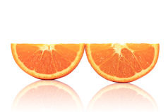 Sliced orange fruit Stock Photo