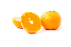 Sliced orange fruit Royalty Free Stock Images