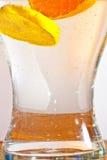 Sliced orange fruits in detail Stock Image
