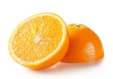 Sliced orange halves Royalty Free Stock Images