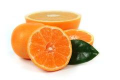 Sliced orange isolated Stock Photos