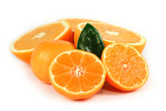Sliced orange isolated Stock Photography