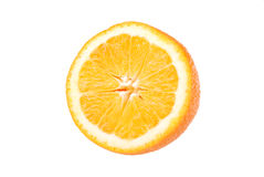 Sliced orange isolated on white Royalty Free Stock Image