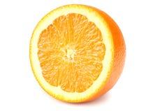 sliced orange isolated on white background. healthy food stock images