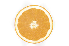 Sliced orange isolated on the white background. Photoed in the studio Royalty Free Stock Photos