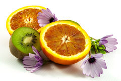 Fresh fruit and flowers Royalty Free Stock Images