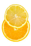 Sliced orange & lemon Stock Image