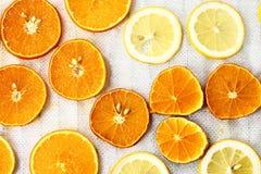 Sliced orange and lemon Royalty Free Stock Photography