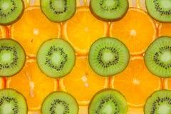 Sliced orange, lemon  and kiwi Royalty Free Stock Images