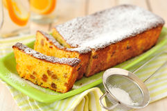 Orange Loaf Cake with Sultanas Stock Photos