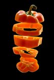 Sliced orange pepper Royalty Free Stock Photography