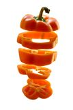 Sliced orange pepper Stock Image