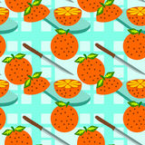 Sliced orange seamless background design Stock Photography