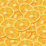 Sliced orange seamless background Royalty Free Stock Images
