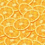 Sliced orange seamless background Royalty Free Stock Images