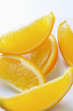 Sliced orange with skin Stock Photo