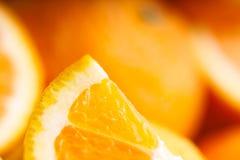 Sliced orange. Soft focus Stock Images