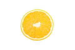 Sliced orange top view Royalty Free Stock Photography