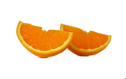 Sliced orange on white Royalty Free Stock Photos
