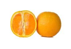 Sliced orange on white Royalty Free Stock Photography
