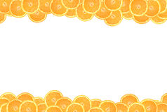 Sliced orange on a white background Stock Images