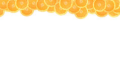 Sliced orange on a white background Royalty Free Stock Photo