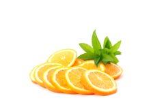 sliced oranges Stock Photos
