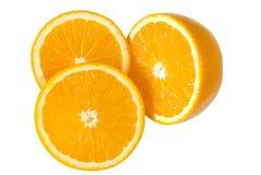 Sliced oranges. 3 pcs of sliced orange Stock Photo