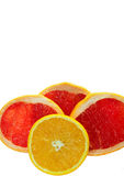 Sliced oranges and grapefruits Royalty Free Stock Photography