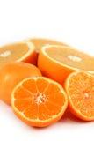 Sliced oranges isolated Stock Photo