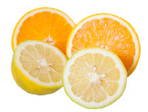 Sliced  oranges and lemons Royalty Free Stock Photos