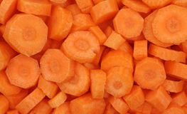 Sliced organic carrots Stock Image