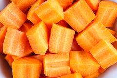 Sliced Organic carrots Stock Image