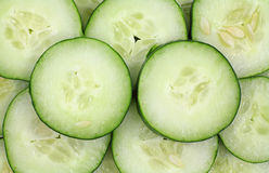 Sliced organic cucumbers Royalty Free Stock Images