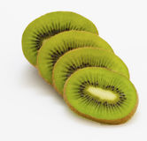 Sliced organic kiwi fruit Stock Image