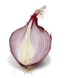 Sliced organic red onion Royalty Free Stock Photography