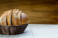 A Sliced Pain De Campagne Au Levain. Royalty Free Stock Images