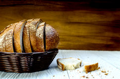 A Sliced Pain De Campagne Au Levain. Stock Images