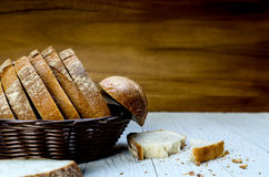 A Sliced Pain De Campagne Au Levain. Stock Photo