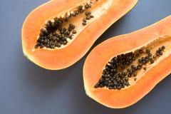 Sliced papaya close up Royalty Free Stock Photo