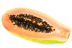 Sliced papaya fruit royalty free stock image