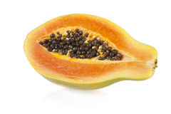 Sliced papaya Royalty Free Stock Images