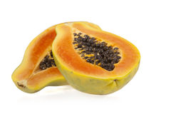Sliced papaya Stock Photo