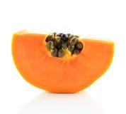 Sliced papaya isolated on a white background. Stock Image