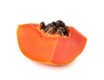 Sliced papaya on a white background Stock Images